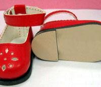 Leather-Like Girl Shoe /w Snap