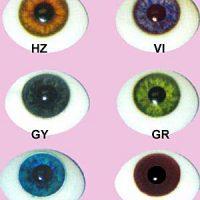 Glass Natural Flatback Eyes